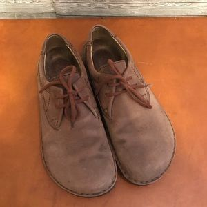 Birkenstock's Brown Suede Leather Sz 41 (L10 M8)